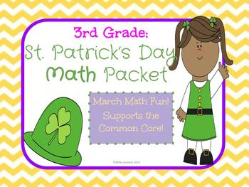 St. Patrick's Day 3rd Grade Math Packet