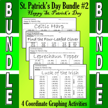 St. Patrick's Day - 4 Coordinate Graphing Activities - Bundle #2