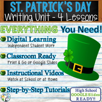 St. Patrick's Day Writing BUNDLE!  Argumentative Persuasive Expository Narrative