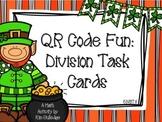 St. Patrick's Day 5th Grade Division with QR Code Fun Common Core 5.NBT.6