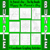 St. Patrick's Day - 9 Coordinate Graphing Activities - The
