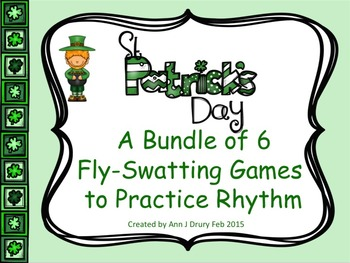 St Patrick's Day - A Bundle of 6 Fly-Swatting Games to Practice Rhythm