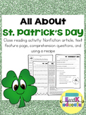 St. Patrick's Day: A Close Reading and Text Features Activity
