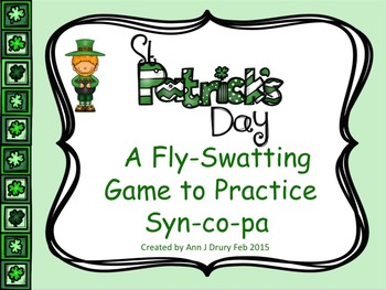 St Patrick's Day - A Fly-Swatting Game to Practice Syn-co-pa