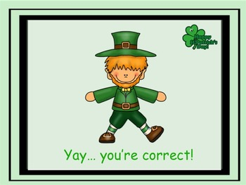 St Patrick's Day - A Game for Practicing Treble Clef Notation