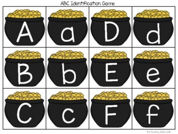 St. Patrick's Day ABC Identification Game