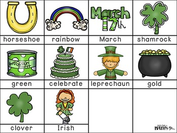 St. Patrick's Day ABC Order Cut and Paste FREEBIE: Level 2