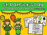 St. Patrick's Day ABC Order Cut and Paste Printable---FREEBIE