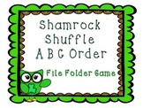 St. Patrick's Day ABC Order File Folder Game