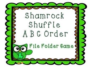 St. Patrick's Day ABC Order File Folder Game