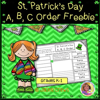 St. Patrick's Day A,B,C Order Freebie  Feedback is Lucky!