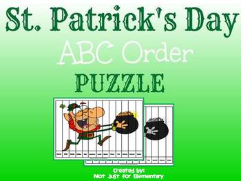 St. Patrick's Day ABC Order Puzzle
