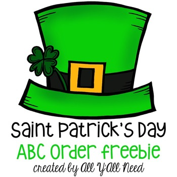 St. Patrick's Day ABC Order {freebie}