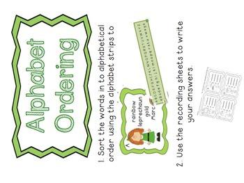 St Patricks Day ABC Ordering