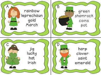 St Patricks Day ABC Ordering