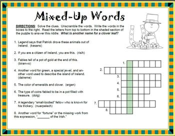 St. Patrick's Day   ACTIVITY PACKET   No Prep!  Print and Go!