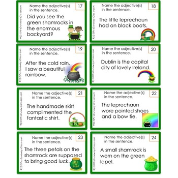 St. Patrick's Day ADJECTIVES:  a game