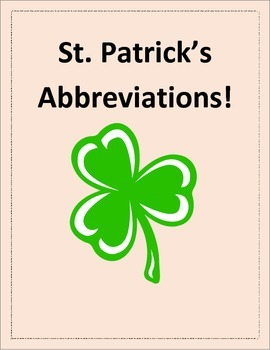 St. Patrick's Day Abbreviations Practice