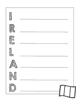 St. Patrick's Day Acrostic Poems