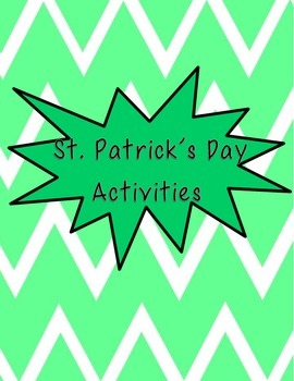 St. Patrick's Day Morning Work Activities
