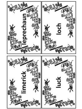 St. Patrick's Day Language Arts Activity: St. Patrick's Day Words Flash-card Set