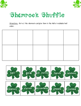 St. Patrick's Day Activities:  ABC order and Common and Proper Nouns