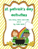 St. Patrick's Day Activities-All Subjects!