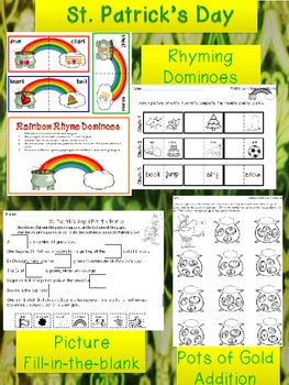 St. Patrick's Day Activities {Math, Reading, Rhymes}