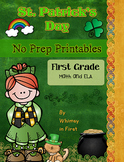 St. Patrick's Day Activities NO PREP (First Grade) | March Activities