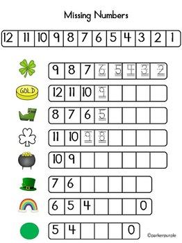St. Patrick's Day Activities Pre-K and Kindergarten Math