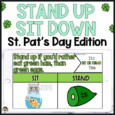 St Patricks Day Activities Stand Up Sit Down for Google Slides™