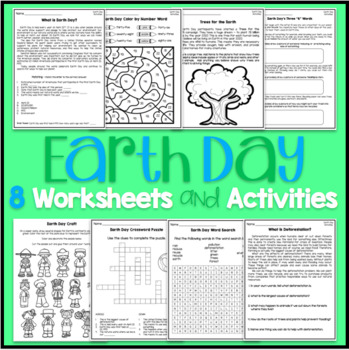 Earth Day Activities and Worksheets #springintosavings
