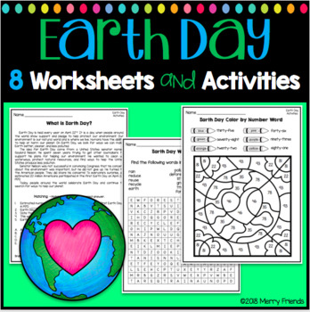 Earth Day Activities And Worksheets By Merry Friends Tpt