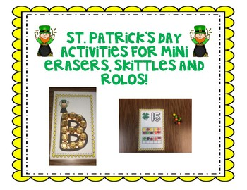 St. Patricks Day Activities for Skittles, Rolos, and mini erasers