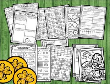 St. Patrick's Day Activity BUNDLE for 3rd: St. Patrick's Day Math & Literacy