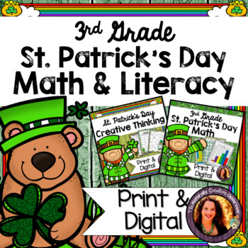 St. Patrick's Day Activity BUNDLE for 3rd: St. Patrick's Day Math & Literacy