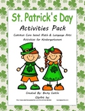 St. Patrick's Day Activity Common Core based Math & Literacy Bundle