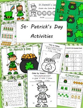 St. Patrick's Day Activity Common Core based Math & Literacy Bundle