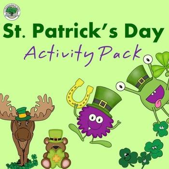 St Patrick's Day Activity Pack NO PREP Good Sub Lesson