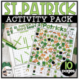 St Patricks Day Activity Pack | Word Search | Crossword