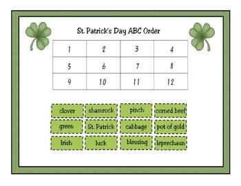 St. Patrick's Day Activity Set