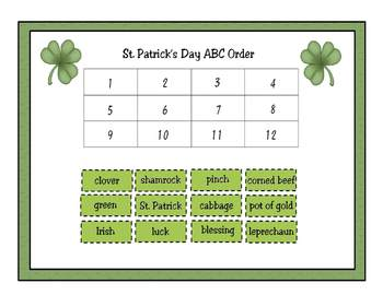 St. Patrick's Day Activity Set for the Primary Classroom