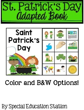 St. Patrick's Day Adapted Book Freebie