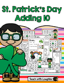 St. Patrick's Day Adding 10 Math Station