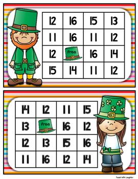 St. Patrick's Day Adding 10 Math Station