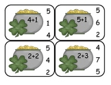 St. Patrick's Day  Addition Clip Card Math Center