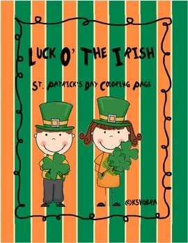 St. Patrick's Day Addition Coloring Page FREEBIE