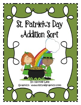 St. Patrick's Day Addition Fact Sort