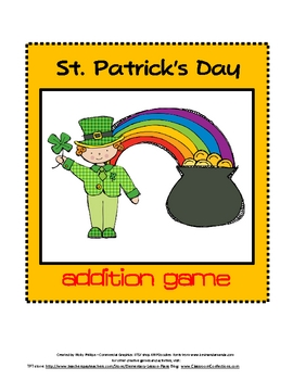 St. Patrick's Day Math Game: Addition Game