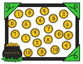 St. Patrick's Day No-Prep Addition Games